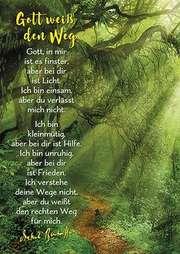Postkarten: Gott weiß den Weg, 4 Stück