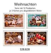 Postkartenserie Weihnachten/Neujahr, 12 Stück