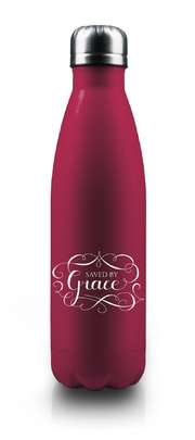 """Isolierflasche """"Saved By Grace"""" - rot"""