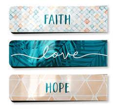 Faith-Love-Hope - Magnetische Lesezeichen (3er-Set)