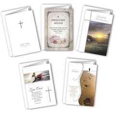 Faltkarten - Trauer 5er Set