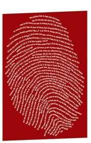 """Postkarte """"Einzigartig, rot"""" - 10er Serie"""