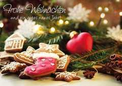 Frohe Weihnachten und ein gutes neues Jahr! - Faltkarte