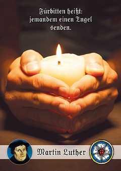 Postkarten: Fürbitten heißt, 4 Stück (Kerze)