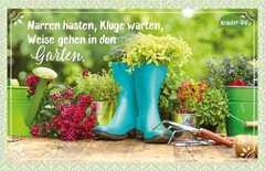 Kräuter-Dip-Postkarte - Narren hasten, Kluge warten, Weise gehen in den Garten.